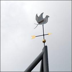 Windwijzer op maat ontworpen en gemaakt.