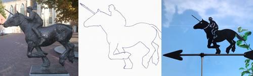 Windwijzer ringsteker op paard maatwerk