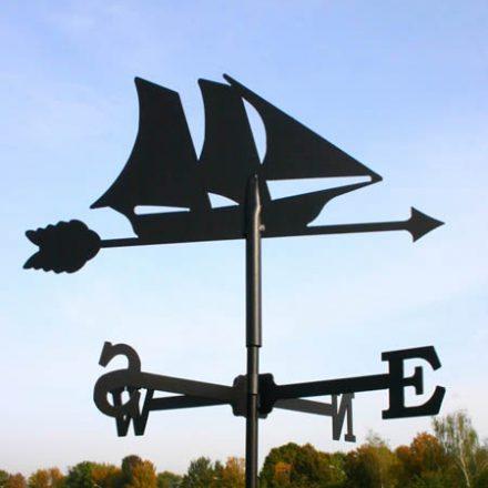 Windwijzer Zeilboot incl. windroos en staaf M