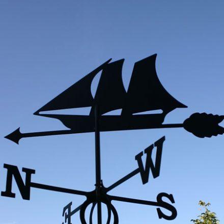 Windwijzer Zeilboot incl. windroos en staaf L