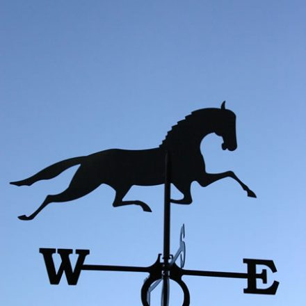 Windwijzer Paard incl. windroos en staaf L