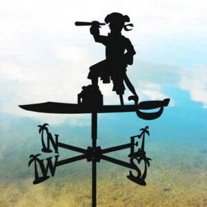 Windwijzer Piraat incl. windroos en staaf M