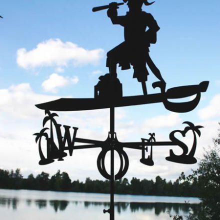 Piraat windwijzer incl. windroos en staaf L