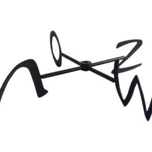 Windwijzer Diamant-design windroos met zwarte N/O/Z/W aanduiding