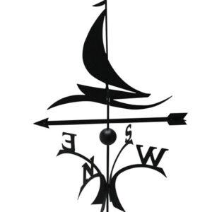 Windwijzer Zeilboot incl. staaf met bol en windroos L deluxe