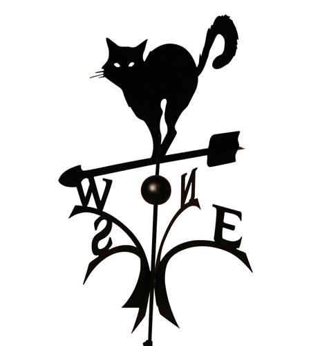 Windwijzer kat inclusief staaf en bol