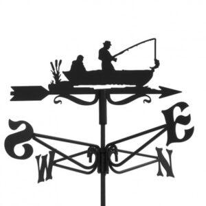 Windwijzer visser met boot